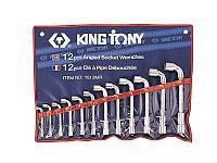 Набор торцевых L-образных ключей, 8-24 мм, 12 предметов KING TONY 1812MR