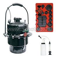 Приспособление для замены тормозной жидкости, 6 л, комплект крышек адаптеров, 15 предметов МАСТАК 102-40005