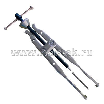 Съёмник подшипников, 10-32 мм, 2-х захватный, удлиненный МАСТАК 104-16400
