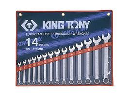 Набор комбинированных ключей, 8-24 мм, 14 предметов KING TONY 1215MR01