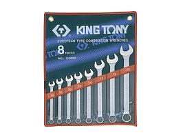 Набор комбинированных ключей, 10-22 мм, 8 предметов KING TONY 1208MR