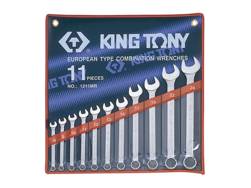 """Набор комбинированных ключей, 3/8""""-3/4"""", 11 предметов KING TONY 1211SR"""