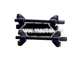 Стяжка амортизаторных пружин, 270 мм, воронёная, двойной крюк, 2 предмета МАСТАК 100-03270