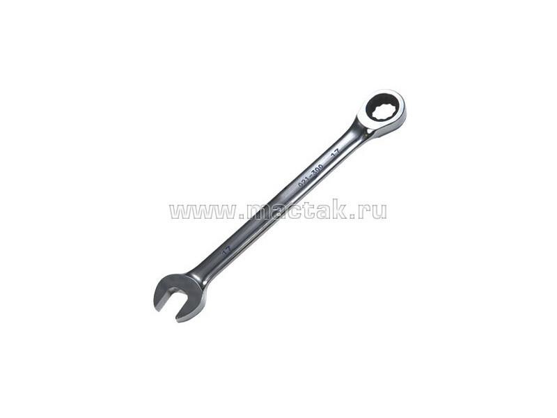 Ключ комбинированный с трещоткой 12 мм МАСТАК 021-30012H