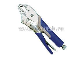 Зажим с фиксатором 175 мм, фигурные губки МАСТАК 036-00175H