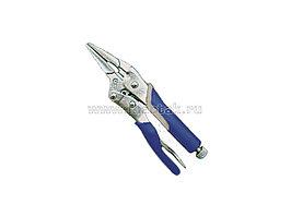 Зажим с фиксатором 225 мм, длинные губки МАСТАК 036-30225H