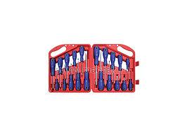Набор отвёрток в пластиковом кейсе, 20 предметов МАСТАК 04-20C