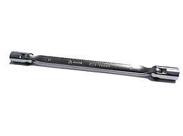 Ключ торцевой шарнирный двусторонний, 8x9 мм МАСТАК 024-00809
