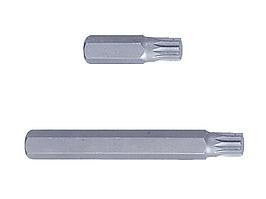 Вставка (бита) торцевая 10 мм, SPLINE, М12, L = 80 мм KING TONY 168012M