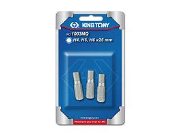 """Набор вставок (бит) 1/4"""", HEX, 4, 5, 6 мм, 3 предмета KING TONY 1003MQ"""