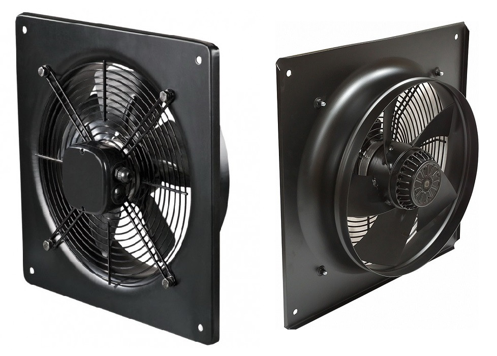 Вентилятор осевой вытяжной промышленный YWF(K)4E200-ZF