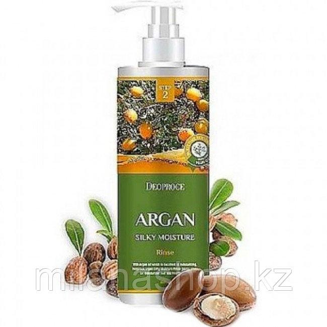 Deoproce Argan Silky Moisture Shampoo 200ml -  Увлажняющий шампунь с маслом арганы 200 мл