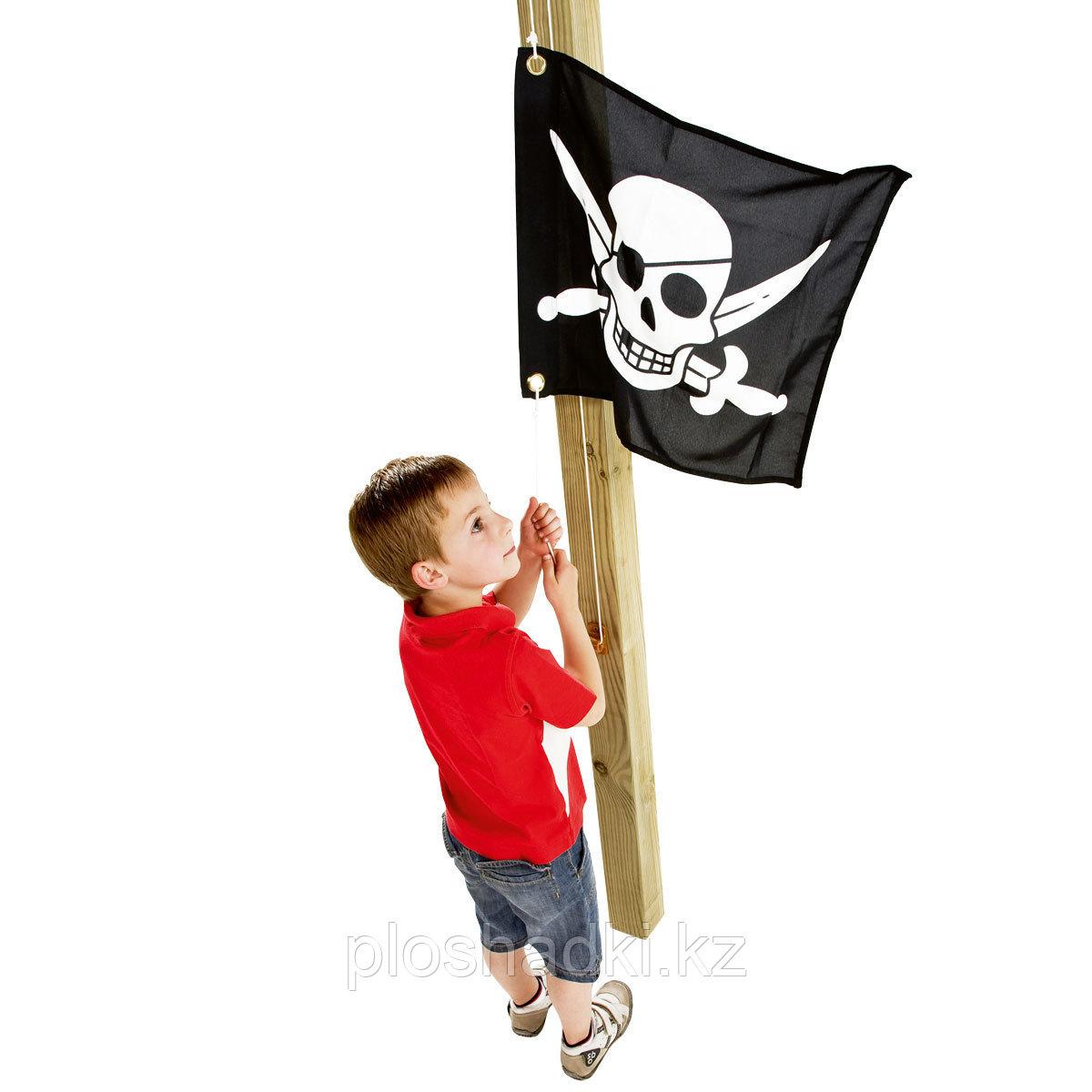 Флаг с механизмом поднятия