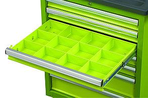 Металлический лоток (разделитель) для ящика инструментальной тележки, 580х406 мм МАСТАК 513-00581