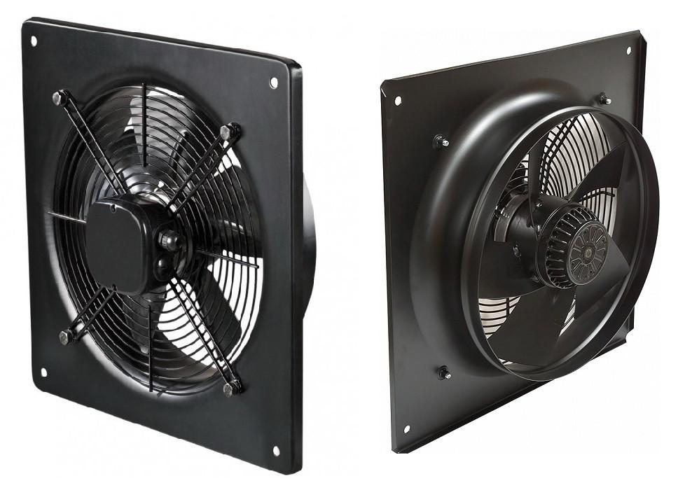 Осевые вентиляторы с настенной панелью YWF(K)4E400-ZF