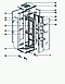 Шкаф серверный напольный 42U,800*1000*1958,двери передняя одностворчатая,задняя двухстворчатая перфорированные, фото 5