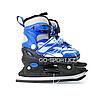 Детские раздвижные коньки, синие с меховой подкладкой In Line Skate, размер М (34-39)