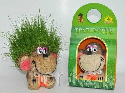 Игрушка-травянчик для интерьера и детского творчества.