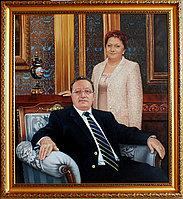 Портрет родителей маслом на заказ по фото.