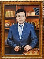 Портреты по фотографии. Деловой портрет в рабочем кабинете.масло. холст.