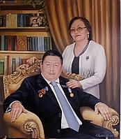 Портрет родителей маслом на заказ. Ручная работа.масло.холст