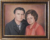 Портрет родителей Александра маслом на заказ.масло. холст