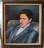 Портрет мужской . В кожаном кресле. Холст,масло.