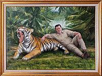 Портрет маслом на заказ. В джунглях.масло. холст