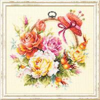 """Набор для вышивания крестом """"Розы для мастерицы"""", фото 1"""
