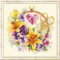 """Набор для вышивания крестом """"Лилии для рукодельницы"""", фото 1"""
