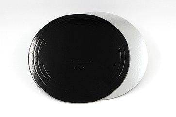 Pasticciere. Подложка черная/серебро D 240 мм ( Толщина 1,5 мм )*50 шт/упак