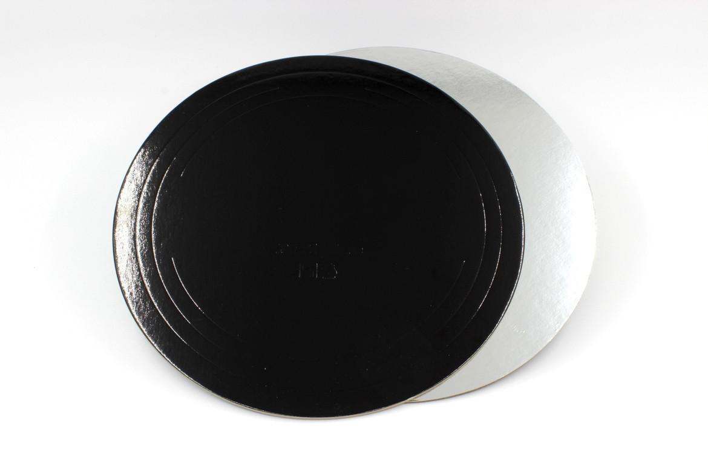 Pasticciere. Подложка черная/серебро D 280 мм ( Толщина 1,5 мм )*50 шт/упак