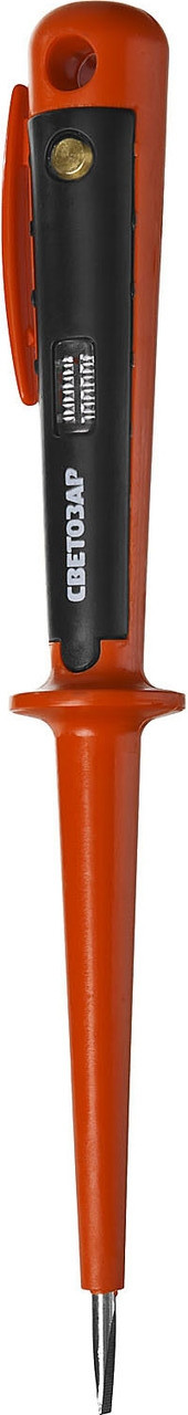 Пробник СВЕТОЗАР электрический, цельнолитой пластмассовый корпус, на карточке, 100-250В, 190мм