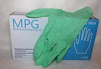 Перчатки нитриловые MPG Nitril (L) (уп-50пар) (нестер., неопудрен.,зеленые)