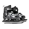 Детские раздвижные коньки, черные с меховой подкладкой In Line Skate, размер М (34-39)