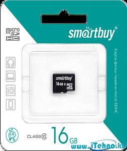 Карта памяти MicroSDHC Smartbuy 16 gb - Class 10