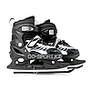 Детские раздвижные коньки, черные с меховой подкладкой In Line Skate, размер L (38-43)