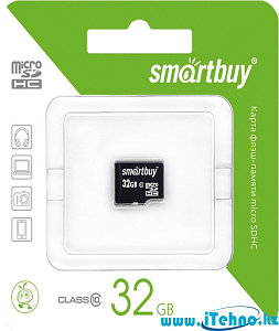 Карта памяти MicroSDHC Smartbuy 32 gb - Class 10