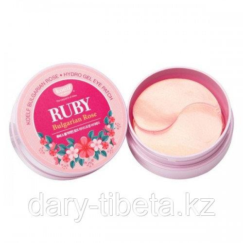 Koelf Ruby & Bulgarian Rose Eye Patch -Гидрогелевые патчи для век с рубином и экстратом болгарской розы( 60шт)