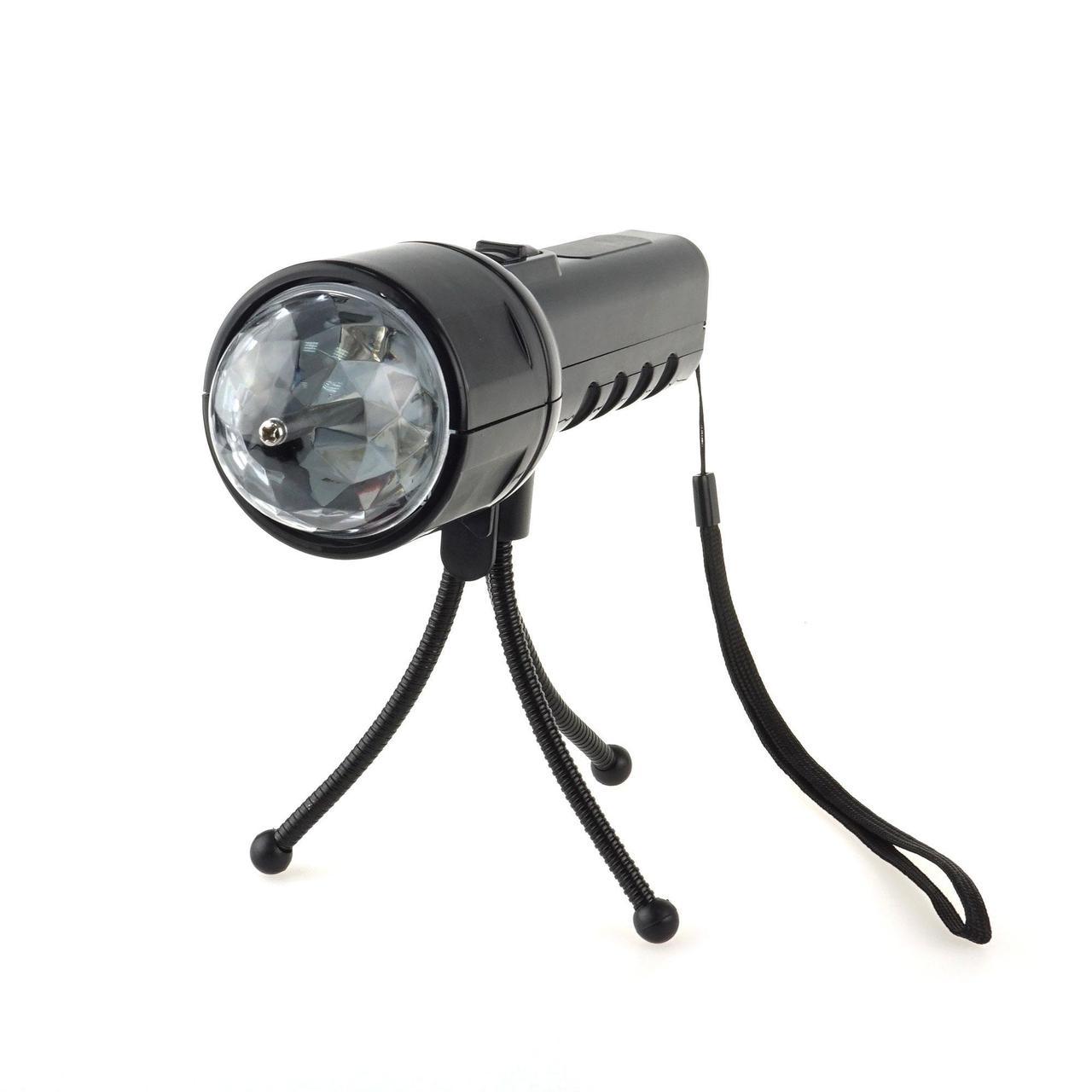 Светодиодный цветной LED проектор на штативе 2 в 1