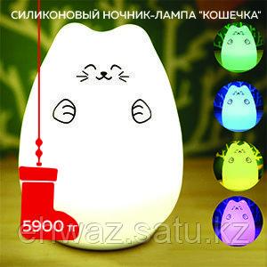 """Распродажа! Силиконовый LED ночник-лампа """"Кошечка"""""""