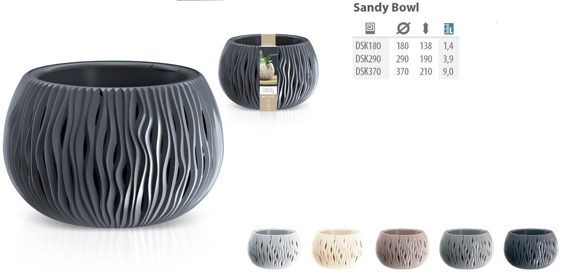 Горшок цветочный DSK 180 2 в 1 Sandy Bowl  Prosperplast , Польша