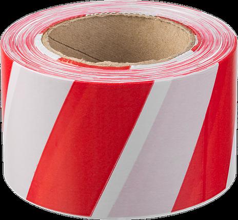 Сигнальная лента, цвет красно-белый, 50мм х 200м, ЗУБР Мастер, фото 2