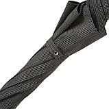 Элитный мужской зонт с кожаной ручкой. Производство Италия, фото 2