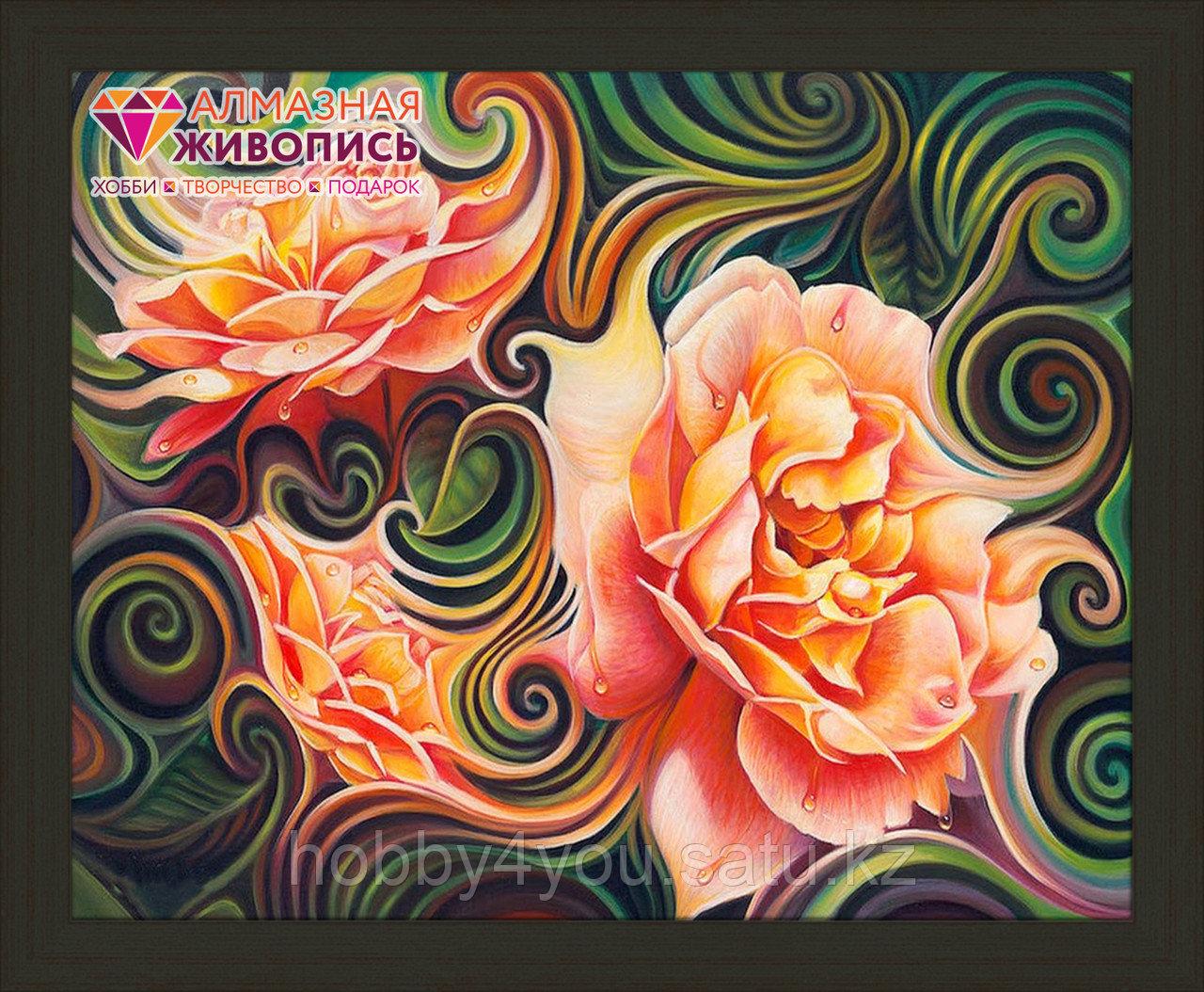 """Картина стразами """"Розы в абстракции"""", 40*50см"""