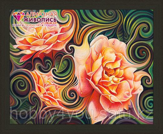 """Картина стразами """"Розы в абстракции"""", 40*50см, фото 2"""