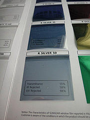 Зеркальная (солнцезащитная) пленка для стекол Silver 50