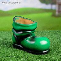 """Фигурное кашпо """"Сапожок"""" зеленый (13х20см)"""