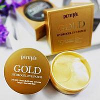 Petitfee Gold Hydrogel Eye Patch - Петитфи Гидрогелевые патчи для области вокруг глаз с золотом 60 шт
