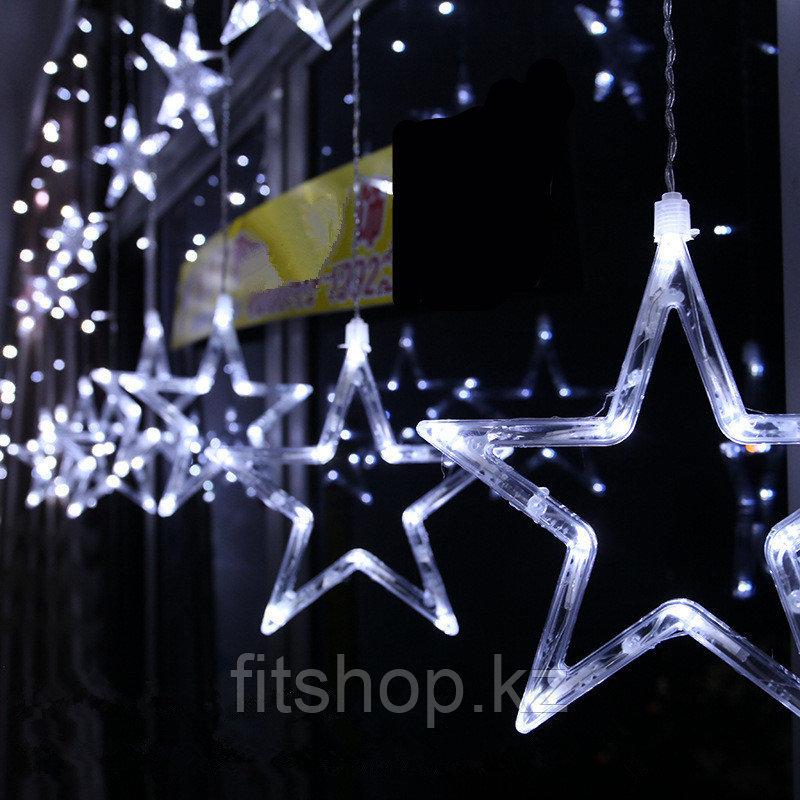 Гирлянда-дождь светодиодная Звезды